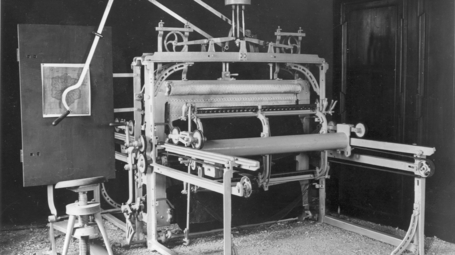 1869 Saurer first hand embroidery machine